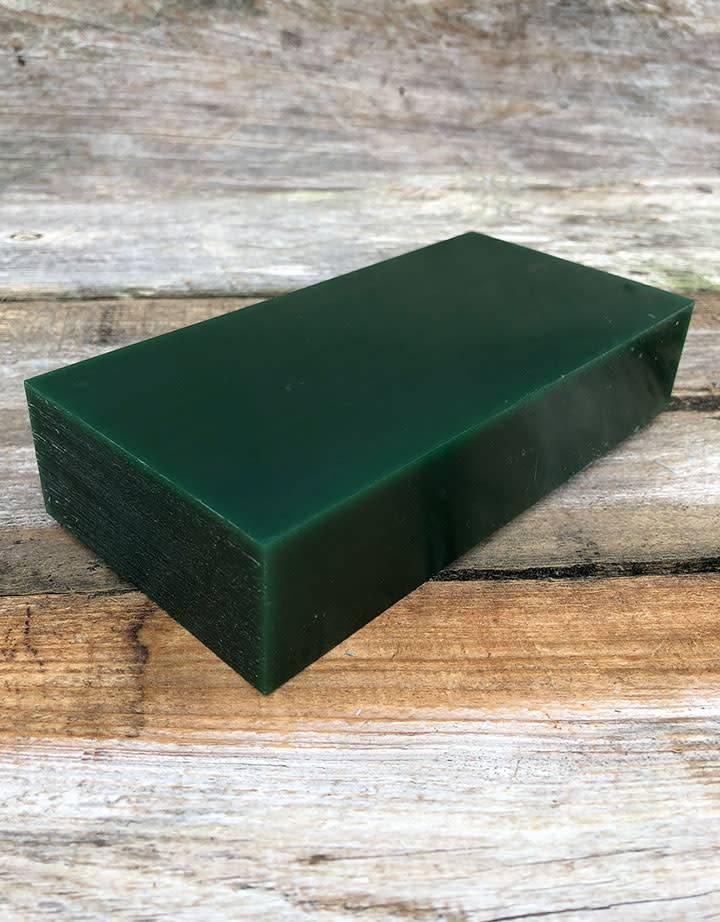 21.02760 = DuMatt Green Carving Wax Block (1lb)