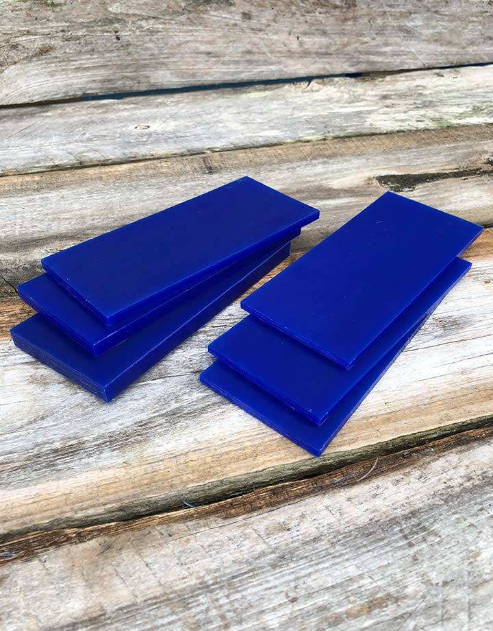 21.02773 = DuMatt Blue Carving Wax Tablets Set of 6