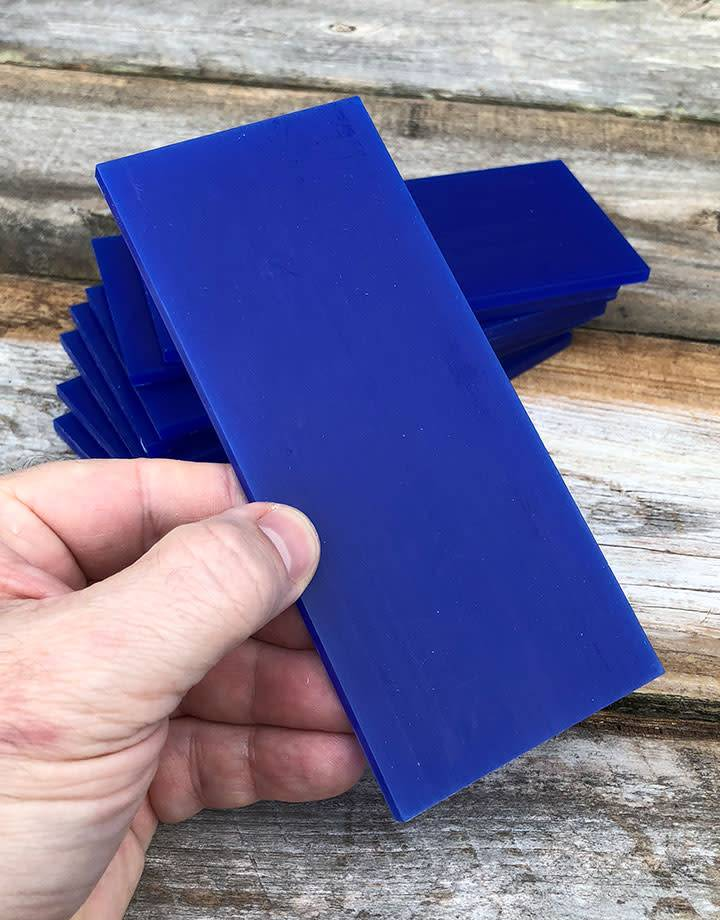 21.02784 = DuMatt Blue Carving Wax Tablets Set of 8