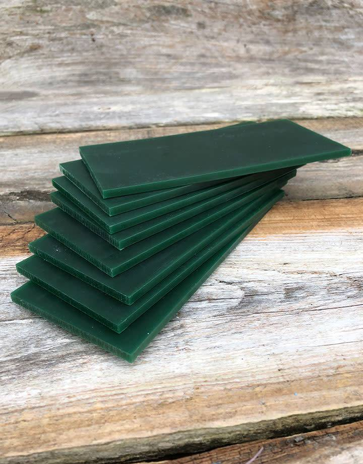 21.02786 = DuMatt Green Carving Wax Tablets Set of 8