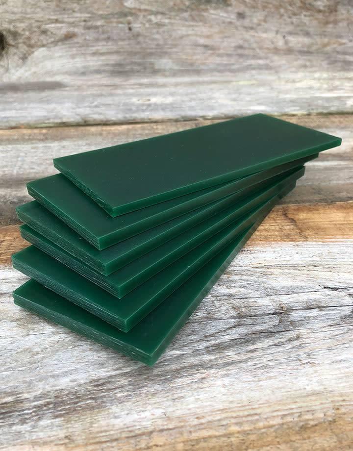 21.02789 = DuMatt Green Carving Wax Tablets Set of 6