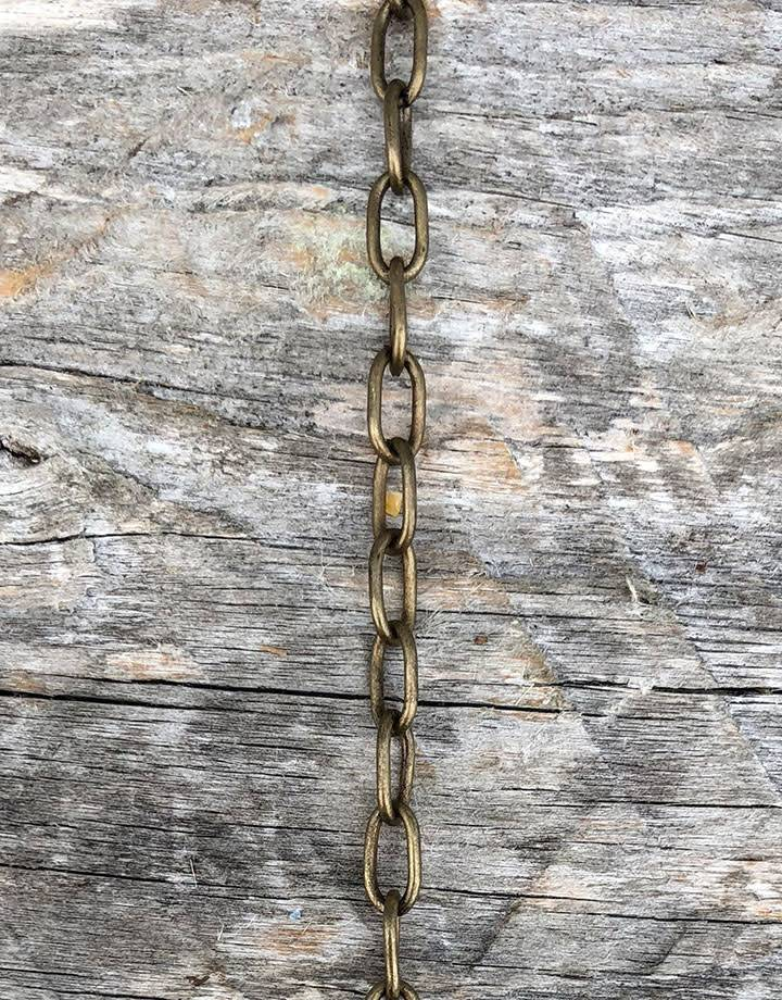 800AB-10 = Antique Brass Drawn Cable Chain 3.7mm Wide (per foot)