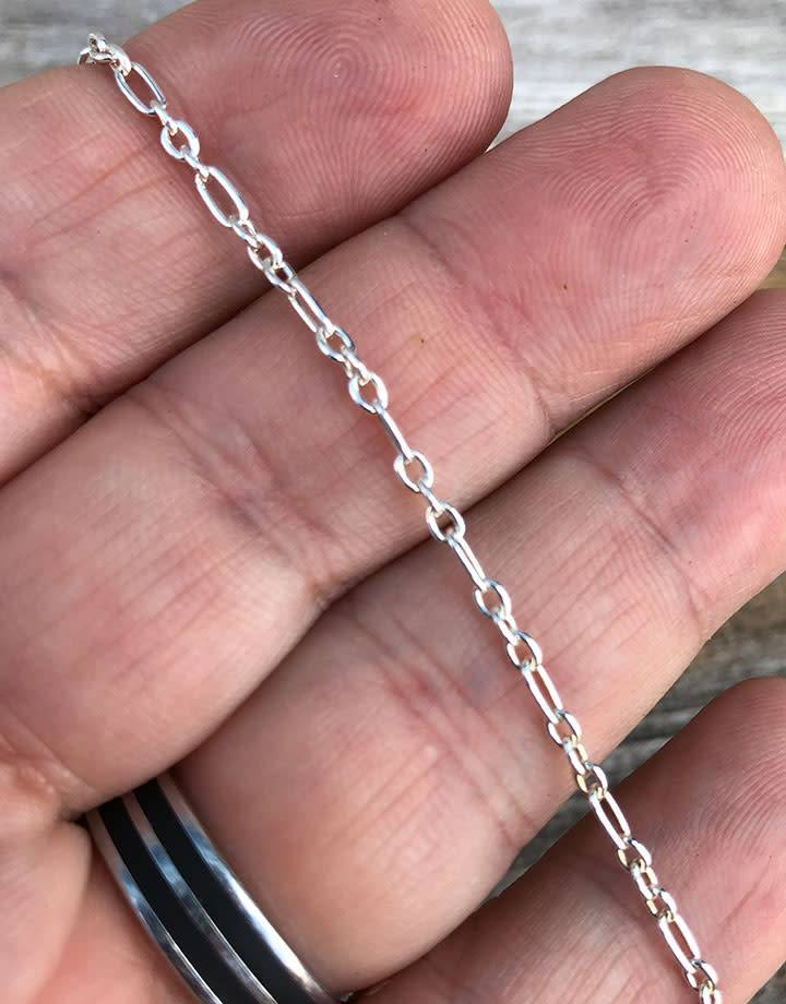 800SF-12 = SILVER FILLED 2.3mm LONG & SHORT CABLE CHAIN