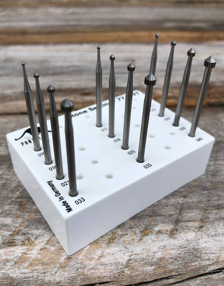 18.129G = SETTING BUR SET TUNGSTEN/VANADIUM (1.0 to 4.0mm) 12pcs