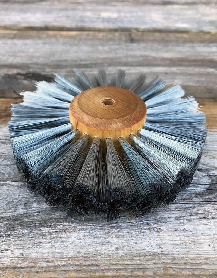 16.462 = Steel Straight Wire Wood Hub Brush 4 Rows 4'' dia.