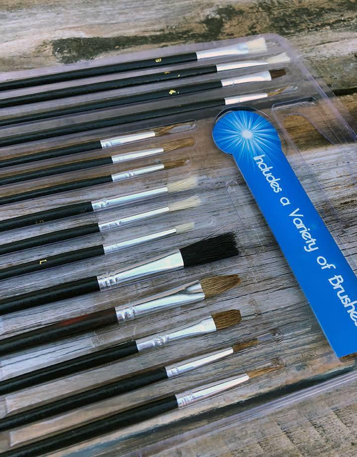 BU30515 = Natrual Bristle Artist Brush Set (15pcs)