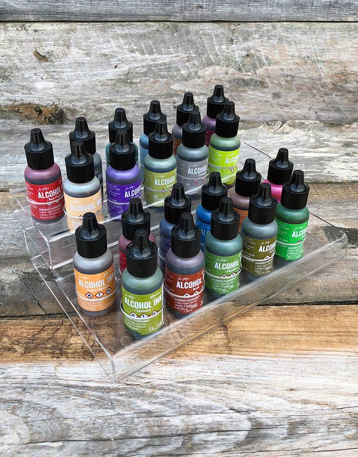 PM4089 = Acrylic Ink Bottle Stand for 22 Bottles