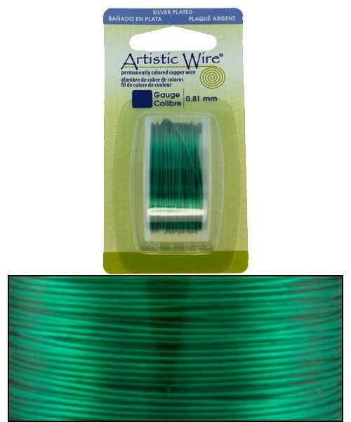 WR26318 = Artistic Wire Dispenser Pack SP XMAS GREEN 18ga 4 YARD