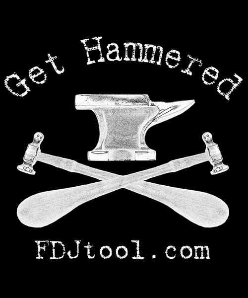 FDJ100M2X = FDJ Get Hammered Black Men's 2 Extra Large T-Shirt