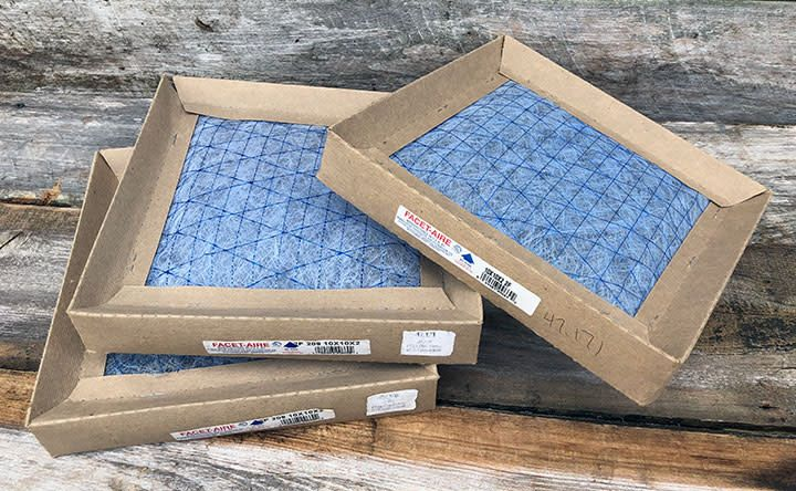 """Replacement Dust Collector Filters 10"""" x 10"""" x 2"""" (Pkg of 3) **CLOSEOUT**"""