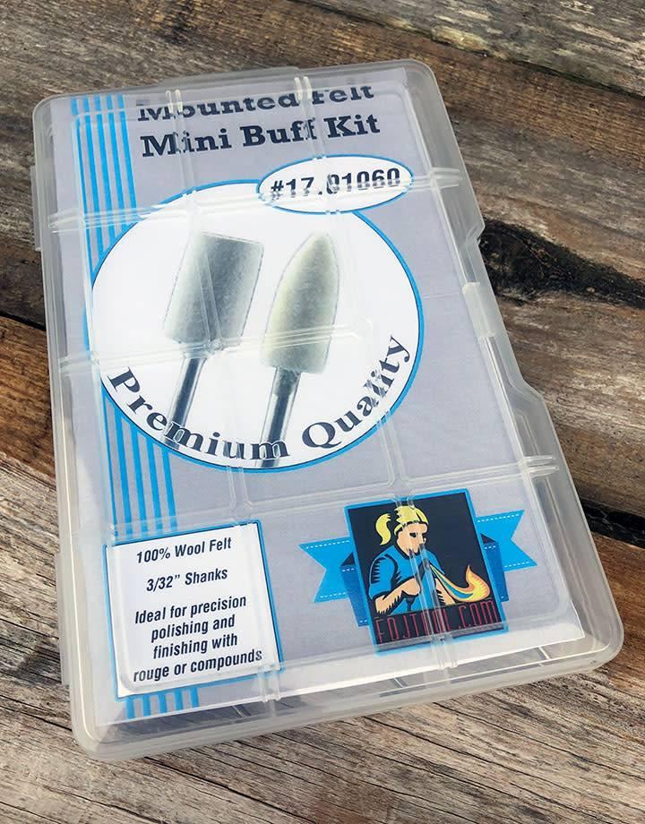 17.01060 = Mounted Felt Buff Kit 11pcs