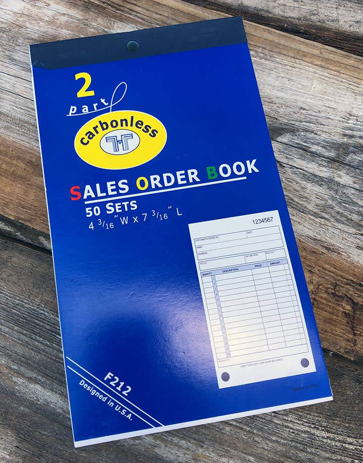 DIS3812 = RECEIPT BOOK - 50pgs - APPROX. 7''x4'' - 15 lines