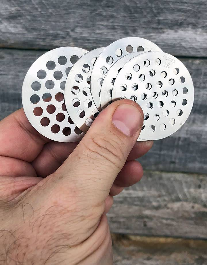 51.0561 = Diamond Sieve 48mm with 23 Plates