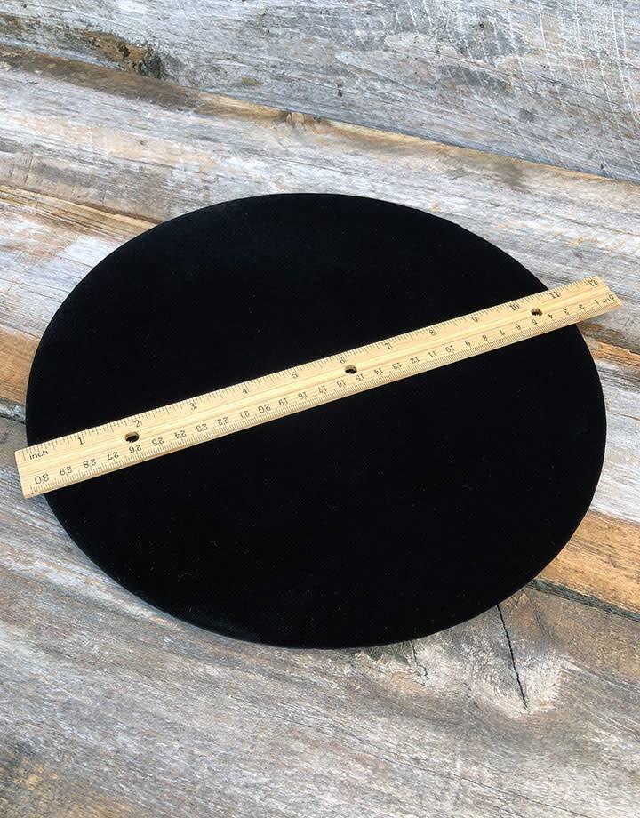 DIS1319 = Black Value Velvet Round Display Pad 11''