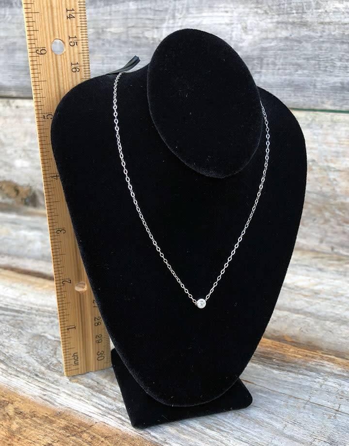 DCH1882 = Light Weight Necklace Bust Black Value Velvet - 6-1/2'' Tall