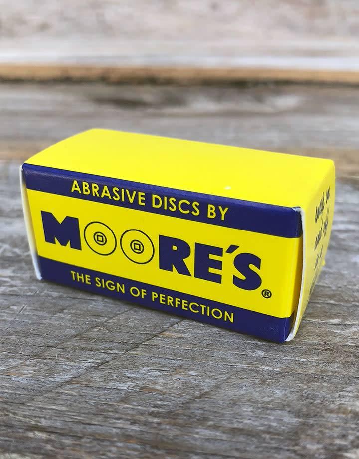 10.01086B = Moore's Snap On Sanding Disc -  Fine - 7/8'' (Box of 50)