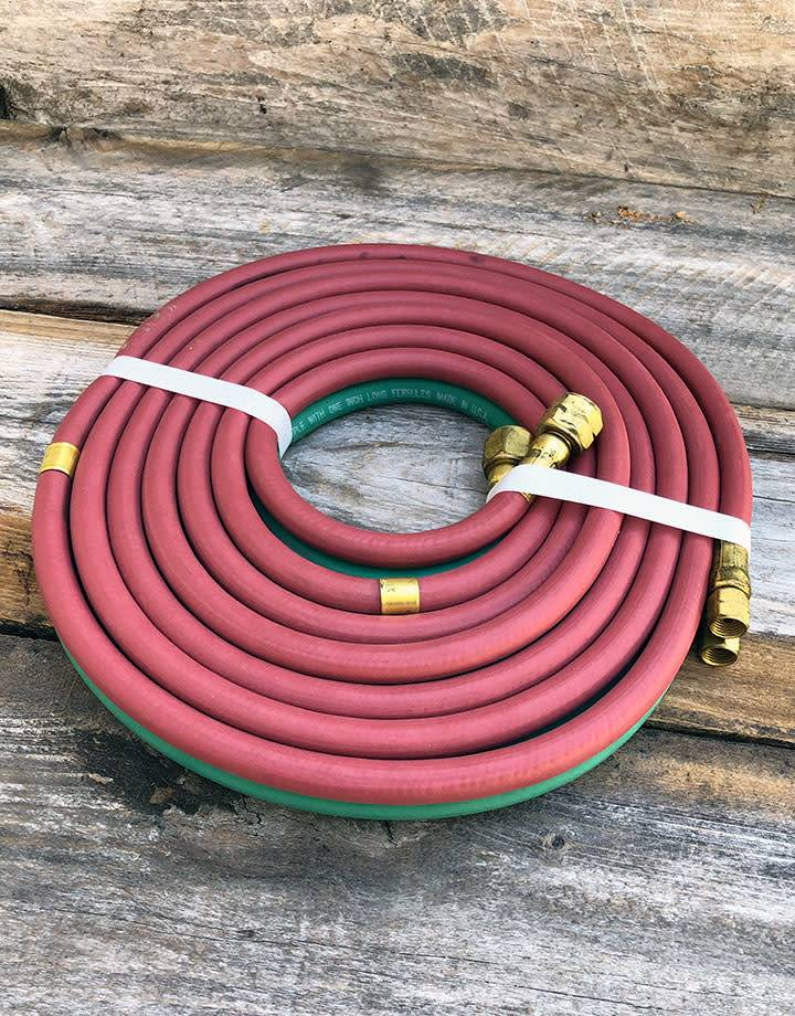 14.0781 = Torch Hose Set 12ft with 3/8'' & 9/16'' Fittings