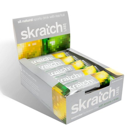 SKRATCH LABS Exercise Hydration Mix Box of 20, lemons + lime