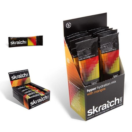 Skratch Labs Hyper Hydration Mix, 8 Pack Singles, Mangos