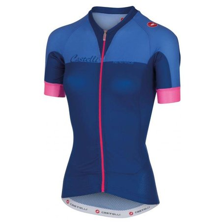 Cstelli Aero Race W Jersey FZ -surf blue/riviera blue/pink fluo -S