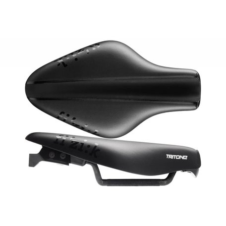 Fizik Saddle Tri - Tritone 5.5 - 7 X 9 Braided Rails - Black - Dual Water Bottle/Co2 Mount Kit