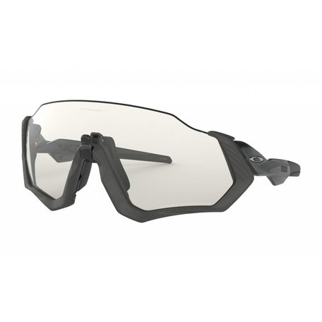 OAKLEY Flight Jacket - Scenic Grey w/Clear Blk Iridium Photoc