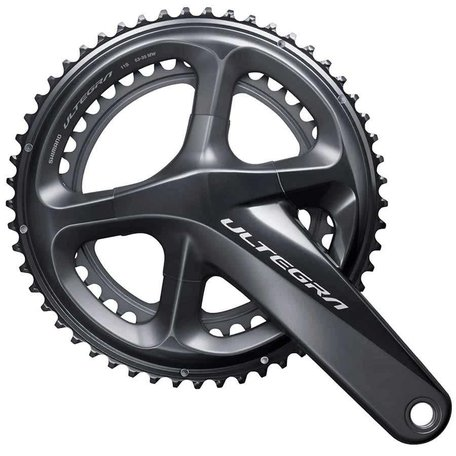 SHIMANO, Ultegra FC-R8000, Crankset, Road Disc, 11 sp., 24mm, 34/50T, BCD:110, Hollowtech II, 172.5mm, Grey