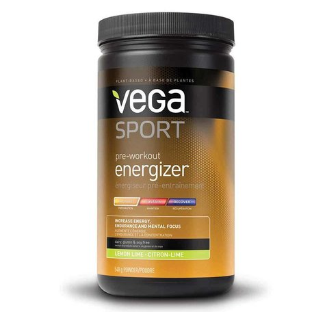 VEGA, Sport, Pre Workout Energizer, Drink mix, Lemon/ Lime, 19oz
