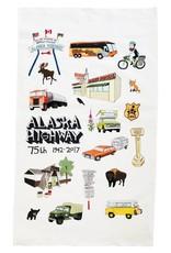 Alaska Highway 75th Anniversary Commemorative Tea Towel