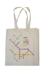 Yukon Route Map Tote Bag
