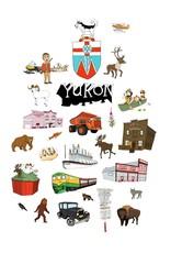 Yukon Landmarks Tea Towel