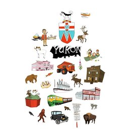 Yukon Landmarks Tea Towel
