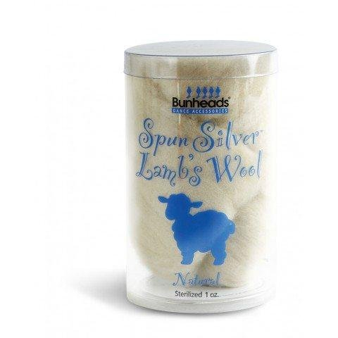 Capezio Spun Silver Antimicrobial Lambs Wool Natural 1 oz