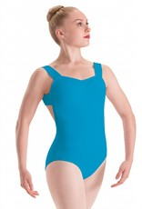 Motionwear Tank Leotard with Pinch Front and Lattice Back