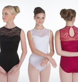 Suffolk Jayne Mansfield Lace Sleeveless Leotard