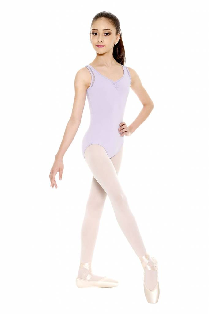 So Danca Pinch Front Tank Leotard with Mesh back