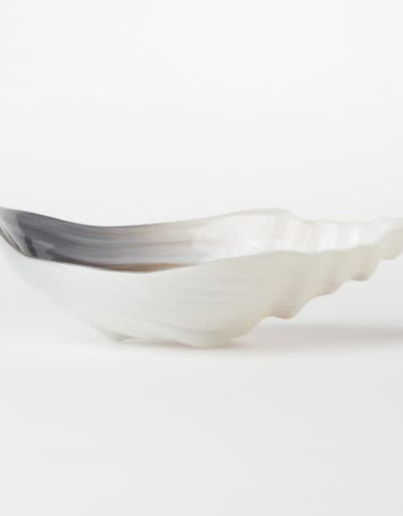 Sabbia Glass Medium Conch Shell Bowl