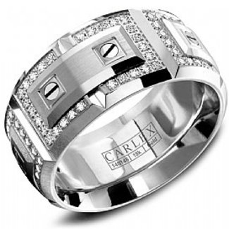 CARLEX CARLEX RING .75CT VS1 18K WHITE GOLD