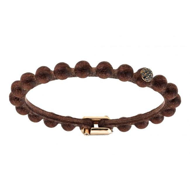 SAURO SAURO Big Leather Diamond Bracelet 368