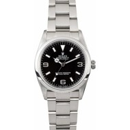 Rolex ROLEX PRE-OWNED Explorer Black Dial Men's Watch 14270BKAO (2004) Box and Papers.