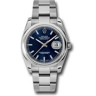 Rolex Rolex 116200 blso Datejust 36 Steel - Domed Bezel 2018 BP