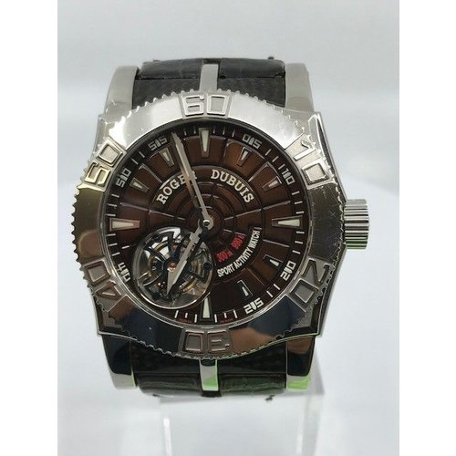 Roger Dubuis Roger Dubuis Easy Diver Stainless Steel Tourbillon Manual Wind Rubber Strap Deployment Buckle (2008) BOX AND PAPERS JUST SERVICED