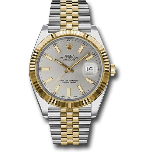 Rolex Rolex 126333 sij Datejust 41 Steel and Yellow Gold - Fluted Bezel - Jubilee