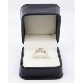 PINK DIAMOND RING 0.75 CT NATURAL FANCY PURPLISH PINK