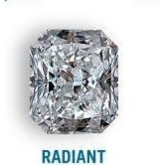 Diamond 3.61 carat Radiant shape,Gcolor, SI2 clarity diamond