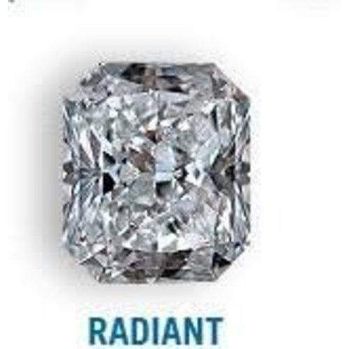 Diamond 3.61 carat Radiant shape,Gcolor, SI2 clarity diamond