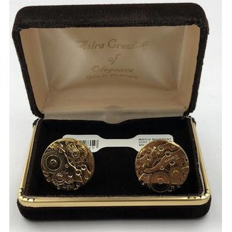 WATCH MOVEMENT CUFF LINKS- GOLD PLATED