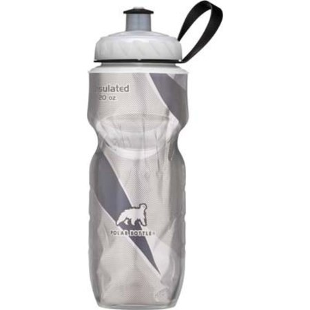 Polar Insulated Pattern Water Bottle: 24oz, White/Black