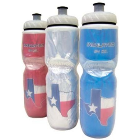 Polar Bottles Insulated Water Bottle: 24oz, Texas Flag Blue