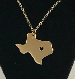 LoneStar Mary Pendant Texas Salado Heart cut out